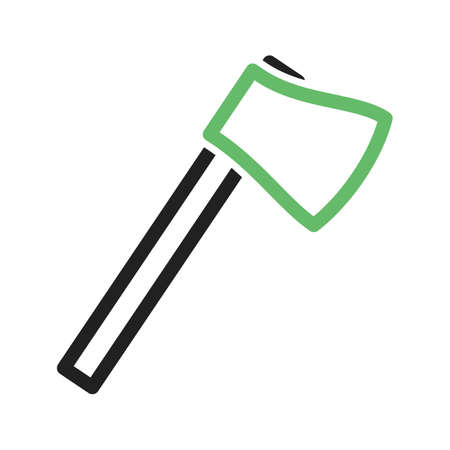 chops: Axe, wooden, handle icon vector image. Can also be used for camping. Suitable for web apps, mobile apps and print media.