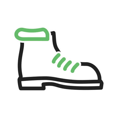 boot print: Hiking, boot, camping icon vector image. Can also be used for camping. Suitable for use on web apps, mobile apps and print media. Illustration