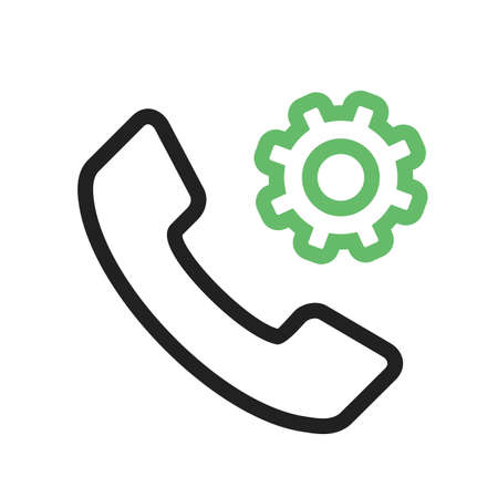 mobile apps: Phone, mobile, settings icon vector image. Can also be used for material design. Suitable for use on web apps, mobile apps and print media. Illustration