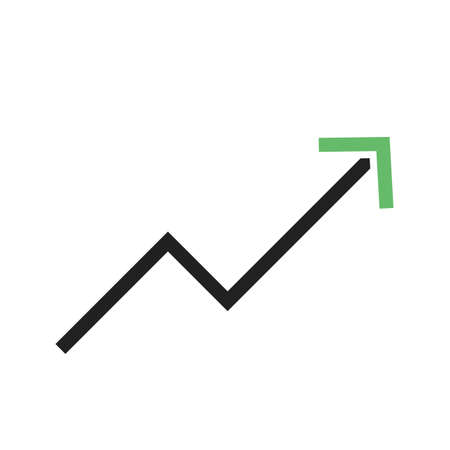 business trending: Trend, up, graph icon vector image. Can also be used for material design. Suitable for web apps, mobile apps and print media. Illustration