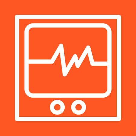 heart monitor: Heart, monitor, medical icon vector image. Can also be used for healthcare and science. Suitable for use on web apps, mobile apps and print media.