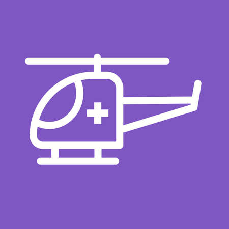 cockpit: Helicopter, flight, sky icon vector image. Can also be used for healthcare and science. Suitable for use on web apps, mobile apps and print media. Illustration