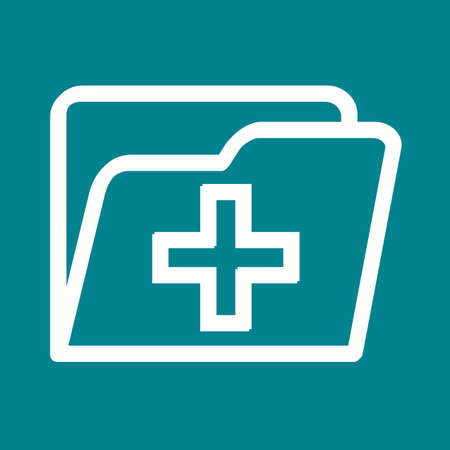 medical record: Medical, health, record icon vector image. Can also be used for healthcare and science. Suitable for use on web apps, mobile apps and print media. Illustration