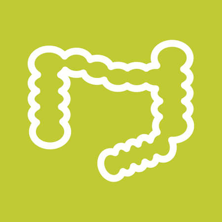 small intestines: Intestine, small, internal icon vector image. Can also be used for healthcare and science. Suitable for use on web apps, mobile apps and print media.