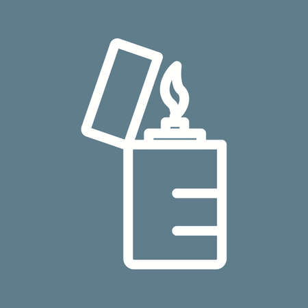 butane: Lighter, flame, fire icon vector image. Can also be used for objects. Suitable for web apps, mobile apps and print media.