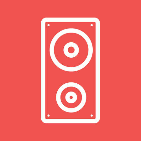woofer: Speaker, sound music icon vector image. Can also be used for party. Suitable for web apps, mobile apps and print media. Illustration