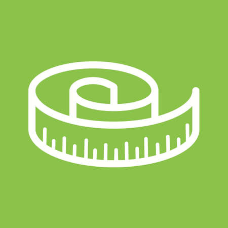 Tape, measure, meter icon vector image. Can also be used for fitness and sports. Suitable for web apps, mobile apps and print media. Ilustração