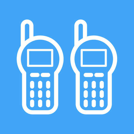 talkie: Walkie, talkie, radio icon vector image. Can also be used for camping. Suitable for web apps, mobile apps and print media.