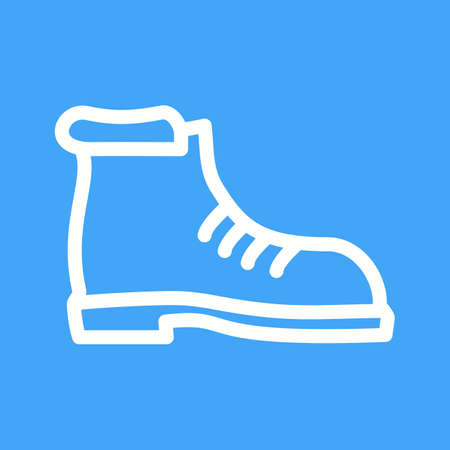 hiking boot: Hiking, boot, camping icon vector image. Can also be used for camping. Suitable for use on web apps, mobile apps and print media. Illustration