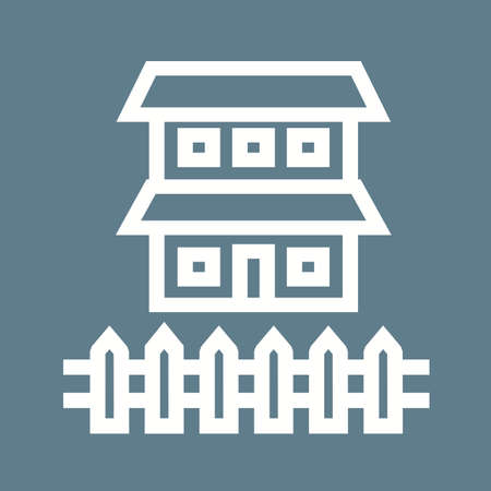 hedges: Fence, house, boundary icon vector image.Can also be used for housing. Suitable for mobile apps, web apps and print media.