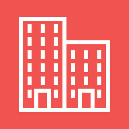plaza: Residential, plaza, business icon vector image.Can also be used for housing. Suitable for mobile apps, web apps and print media.