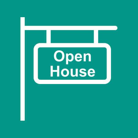 open house: Open, house, keys icon vector image.Can also be used for housing. Suitable for mobile apps, web apps and print media.