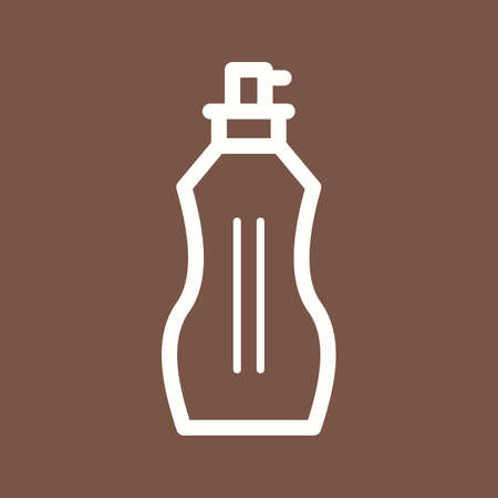 mobile accessories: Perfumes, spray, bottle icon vector image. Can also be used for makeup and accessories. Suitable for web apps, mobile apps and print media.