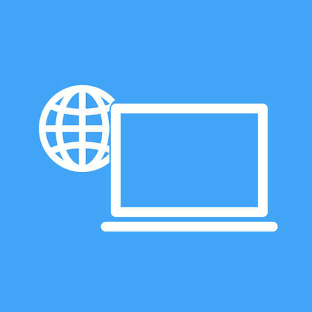 wireless communication: Laptop, computer, wireless icon vector image. Can also be used for IT and communication. Suitable for use on web apps, mobile apps and print media. Illustration