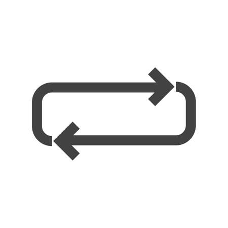 looping: Arrow, cycle, loop icon vector image. Can also be used for arrows. Suitable for mobile apps, web apps and print media. Illustration