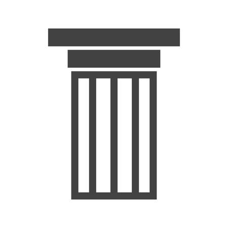 courthouse: Columns, pillars, courthouse icon vector image.Can also be used for building and landmarks . Suitable for mobile apps, web apps and print media. Illustration