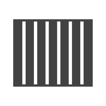 lockup: Prison, bars, jail icon vector image.Can also be used for building and landmarks . Suitable for mobile apps, web apps and print media. Illustration