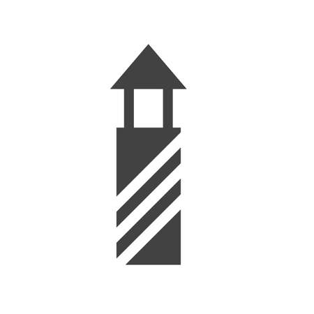 afterglow: Lighthouse, light, beacon icon vector image.Can also be used for building and landmarks . Suitable for mobile apps, web apps and print media. Illustration