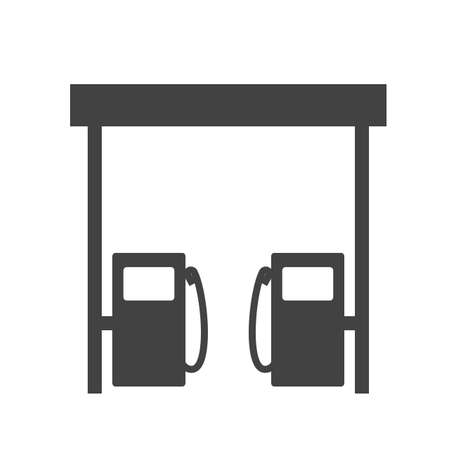 refuel: Station, gas, fuel icon vector image.Can also be used for building and landmarks . Suitable for mobile apps, web apps and print media.