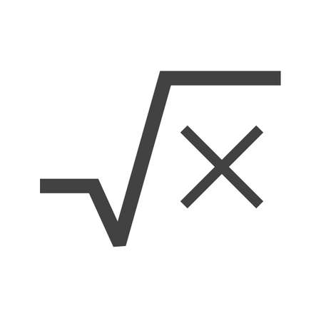 algebraic: Square, root, equation icon vector image. Can also be used for education and science. Suitable for use on web apps, mobile apps and print media.