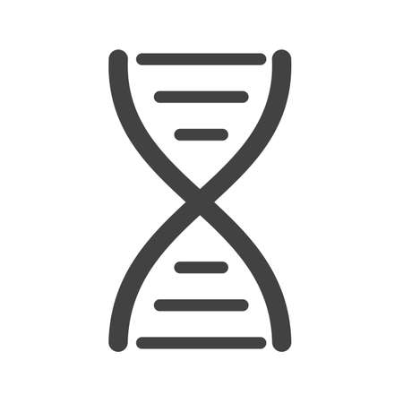 chromosomes: DNA, structure, biology icon vector image.Can also be used for education and science. Suitable for web apps, mobile apps and print media.