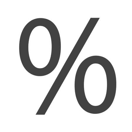 fraction: Percentage, portion, fraction icon vector image.Can also be used for education and science. Suitable for web apps, mobile apps and print media. Illustration