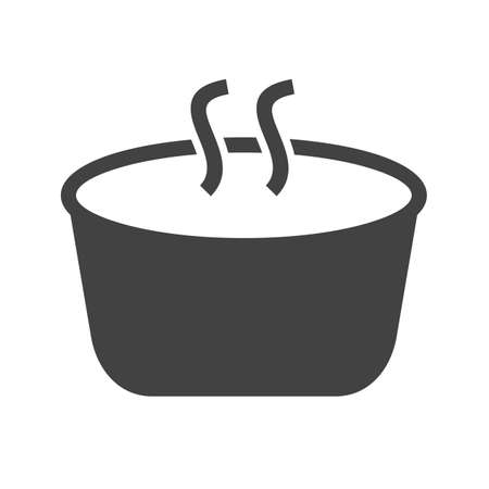 steam cooker: Soup, cooking, food icon vector image.Can also be used for food iconset. Suitable for mobile apps, web apps and print media.