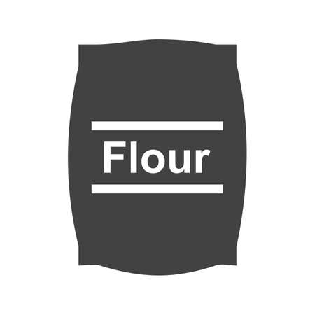 oat: Flour, white, wheat icon vector image. Can also be used for food iconset. Suitable for use on web apps, mobile apps and print media. Illustration