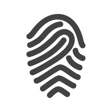odcisk kciuka: Fingerprint, print, unique icon vector image.Can also be used for office. Suitable for mobile apps, web apps and print media.