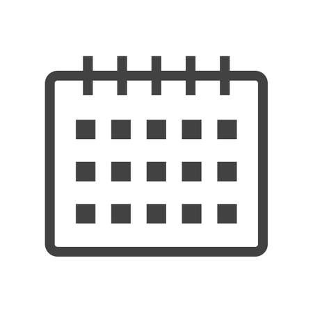 event planner: Calendar, event, year icon vector image. Can also be used for office. Suitable for use on web apps, mobile apps and print media. Illustration