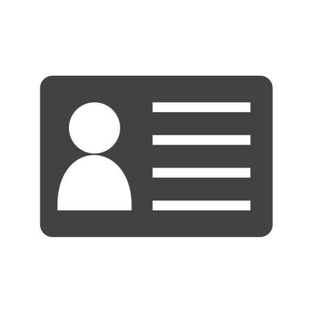 personalize: Identity card, information, account icon vector image.Can also be used for office. Suitable for web apps, mobile apps and print media.