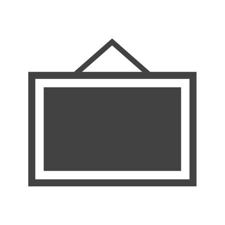 hoarding: Noticeboard, hoarding, board icon vector image. Can also be used for office. Suitable for use on web apps, mobile apps and print media.