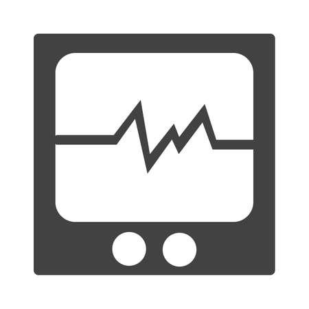 heart monitor: Heart, monitor, medical icon image.