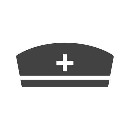 enfermera con cofia: Enfermera, gorra, imagen del icono de la salud.