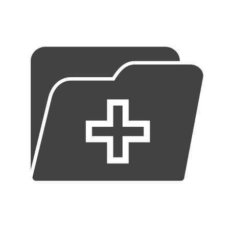 clinic history: M�dico, salud, ficha icono de la imagen. Vectores
