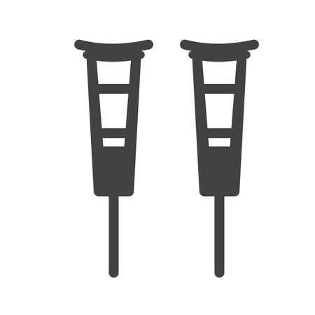 crutch: Crutches, crutch, walker icon image.