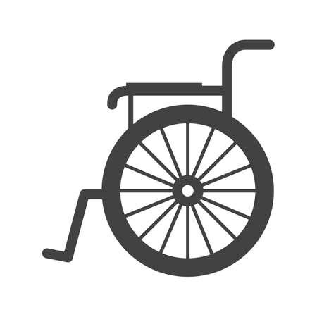 wheel chair: Wheel, chair, physical icon image.