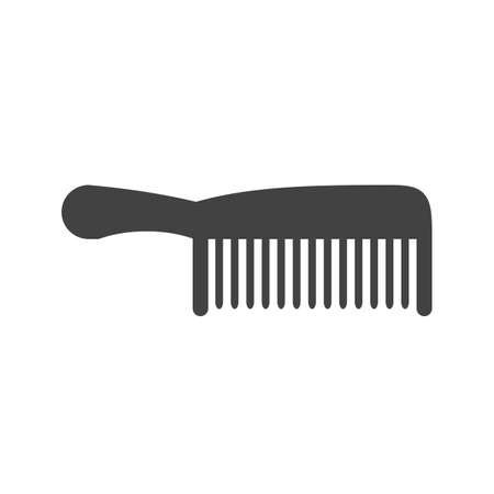 comb hair: Comb, hair, wood icon image.  Illustration