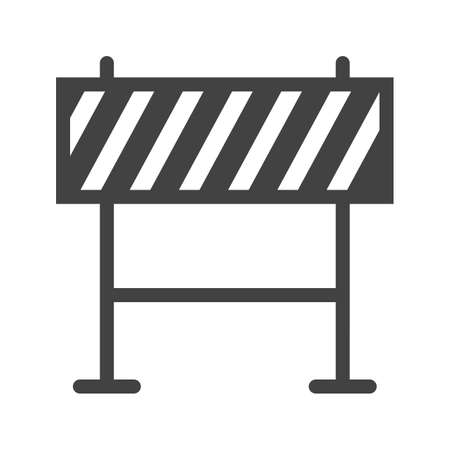 barricade: Barricade, warning, barrier icon image.  Illustration