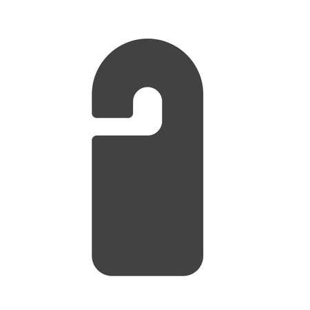 door hanger: Door, hanger, hotel icon image.  Illustration