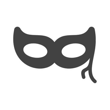 black eye: Mask, black, eye icon image.  Illustration