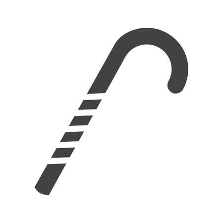 candycane: Candy, cane, stick icon image.