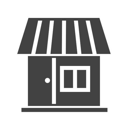 shopping center interior: Shop, center, building icon vector image.Can also be used for housing. Suitable for mobile apps, web apps and print media.