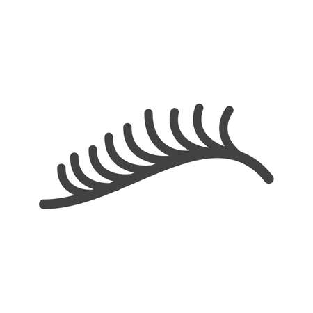 Eyelash, curler, eye icon vector image. Can also be used for makeup and accessories. Suitable for use on web apps, mobile apps and print media.