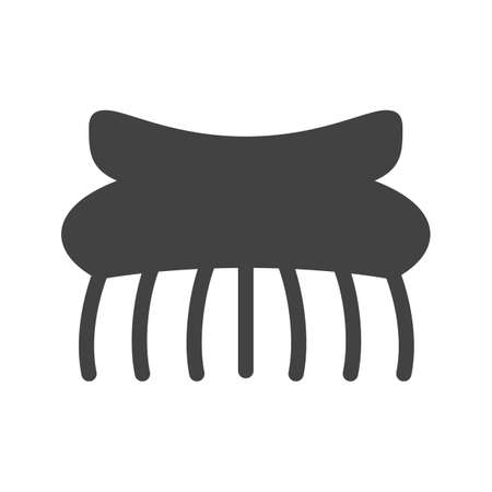 hair accessories: Hair, clips, woman icon vector image. Can also be used for makeup and accessories. Suitable for web apps, mobile apps and print media.