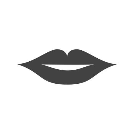 mobile accessories: Lips, face, woman icon vector image. Can also be used for makeup and accessories. Suitable for web apps, mobile apps and print media.