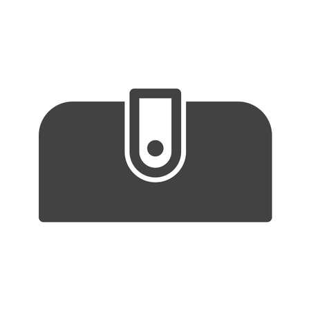 핸드백, 지갑, 패션 아이콘 벡터 이미지입니다. 또한 메이크업과 액세서리를 사용할 수 있습니다. 모바일 앱, 웹 앱 및 인쇄 매체에서 사용하기에 적합