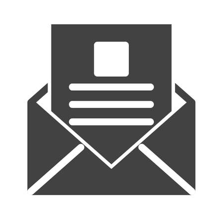 inbox icon: Reading, email, inbox icon vector image. Can also be used for IT and communication. Suitable for use on web apps, mobile apps and print media. Illustration