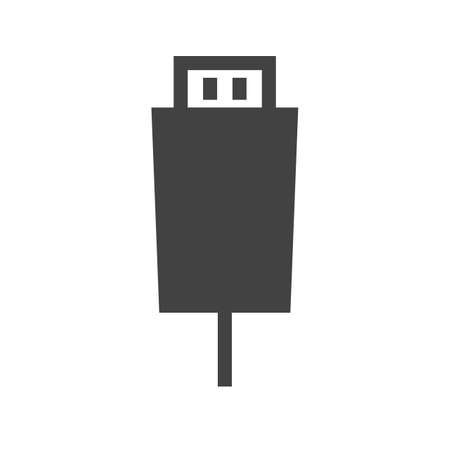 hdmi: HDMI, cable, connect icon vector image. Can also be used for material design. Suitable for use on web apps, mobile apps and print media Illustration