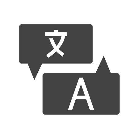 linguistics: Translate, language, dictionary icon vector image. Can also be used for material design. Suitable for web apps, mobile apps and print media.
